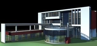 总部大楼,建筑效果图3D模型
