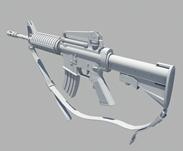 m4枪支maya模型
