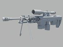 狙击枪,枪械maya模型