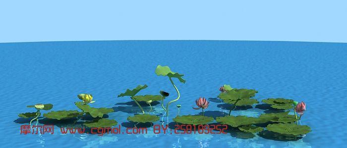 景观荷花3D模型