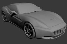 法拉利跑车,汽车3D模型