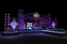 音乐舞台设计3D模型