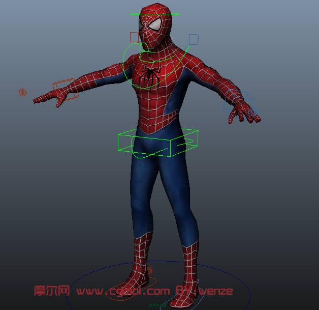 蜘蛛侠maya模型高清图片