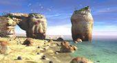 海滩,沙滩场景设计3D模型