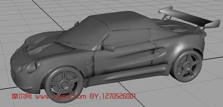 跑车maya模型