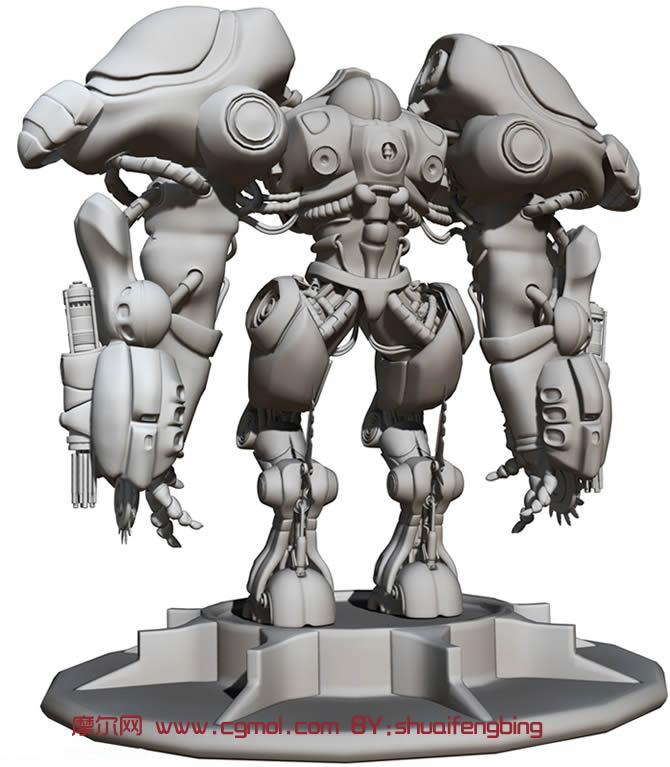 模型图片   机器人maya模型   maya强悍机器人模型 机械角高清图片