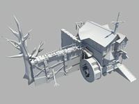 民居,简单小场景maya模型