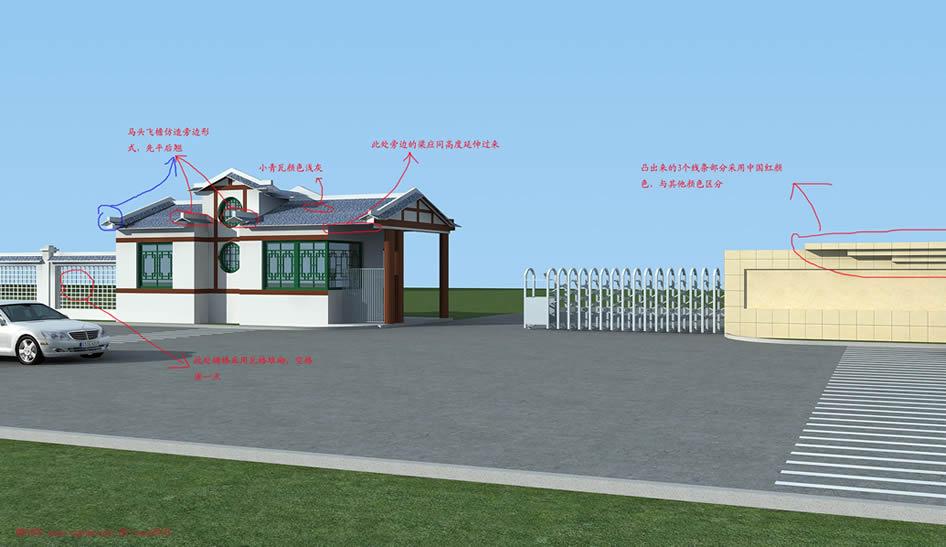 中式走廊 效果图图片分享; 3d中式建筑模型下载;