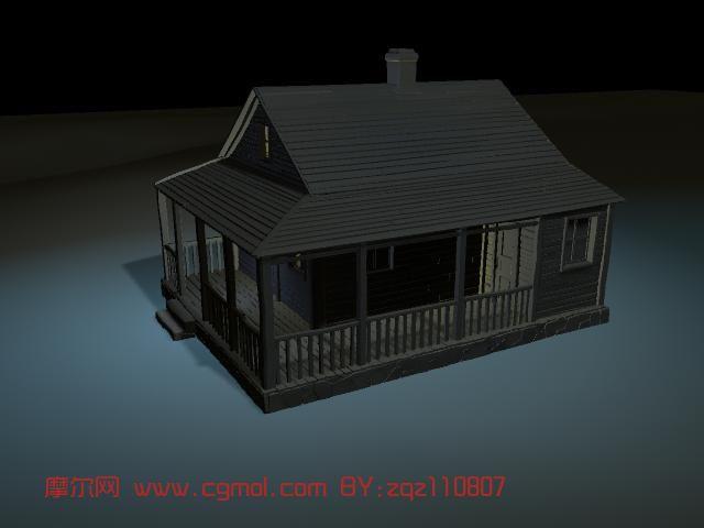 房子maya模型高清图片