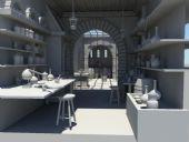 陶瓷,瓷器店铺,工作室,作坊场景maya模型