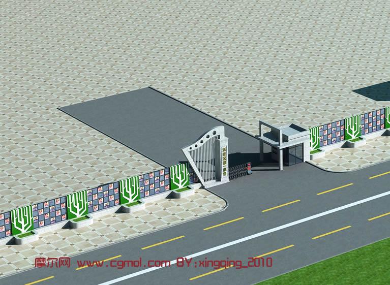 学校大门设计图 结构,学校围墙大门设计图,学校大门模型设计图