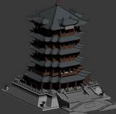 黄鹤楼,宝塔3D模型