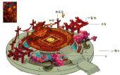 婚礼台,3D喜庆场景模型