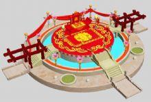 古代婚礼台现场,3D喜庆场景模型