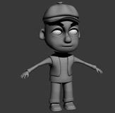 卡通小孩3D模型