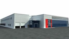 汽车4s店,3D建筑模型