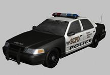 美式警车,警车3D模型