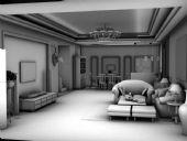 室内客厅设计3D模型