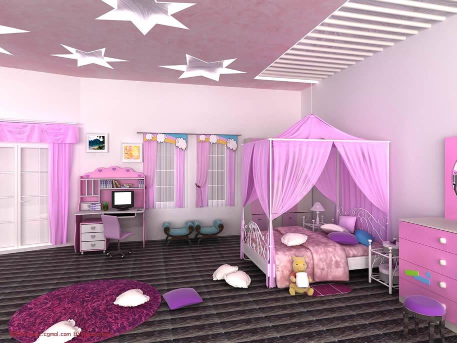 儿童房间,女孩房间3d模型