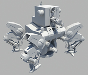 Maya机器人,装甲车模型