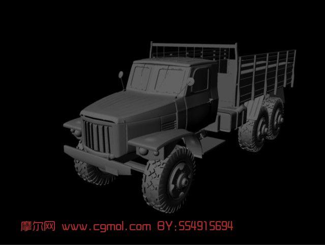 解放牌老式卡车3d模型 汽车 运输模型 3d模型免费下载 摩尔网