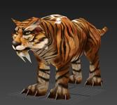 花斑虎,剑齿虎3D模型