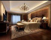 豪华欧式卧室3D模型