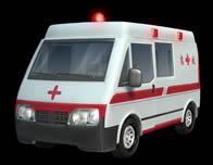 救护车完整3D模型源文件(带材质贴图)
