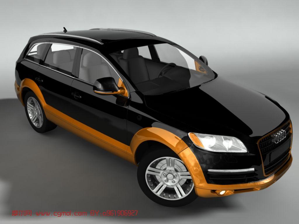 奥迪q7 3d汽车模型 汽车 运输模型 3d模型免费下载 摩尔网