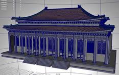 故宫太和殿maya模型