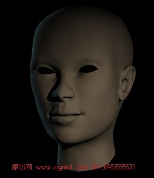 人头,头部,人物头像3d模型