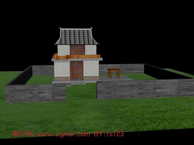 古代房屋模型结构图