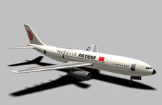中国国际航空公司客机3D模型