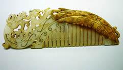 玉器,龙凤梳子3D模型