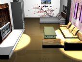 单身公寓室内设计装饰3D模型