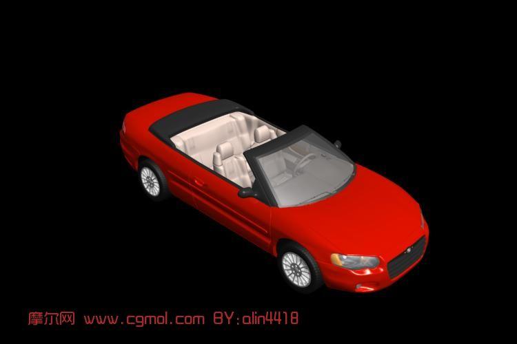 克莱斯勒敞篷汽车3D模型