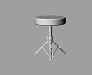 爵士鼓椅子3D模型
