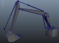 挖掘机前半段3D模型