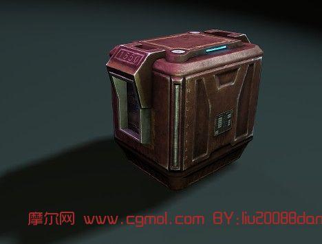 科幻继电器,箱子3D模型