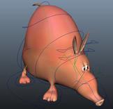 卡通猪,卡通貘,卡通��3D模型(带骨骼)