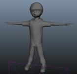 卡通小男孩maya模型