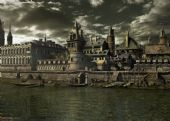 水边小镇场景3D模型