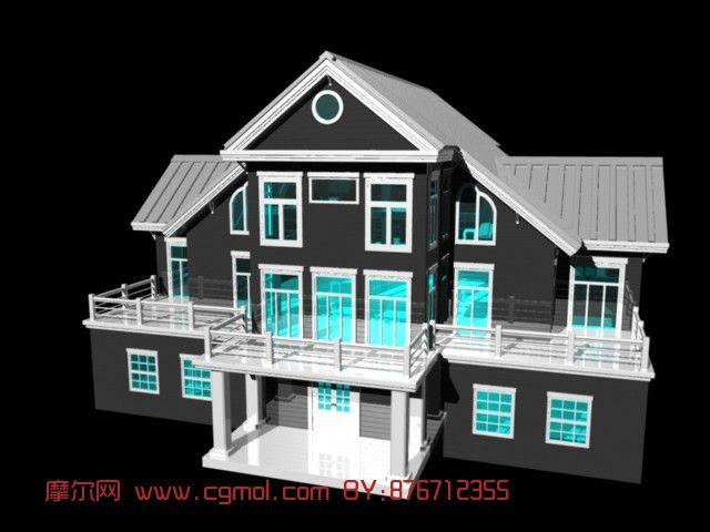 双层房子,乡村别墅模型