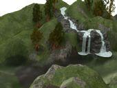 小山流水自然场景3D模型