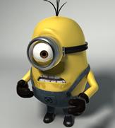 小黄人,卑鄙的我中的动画角色3D模型