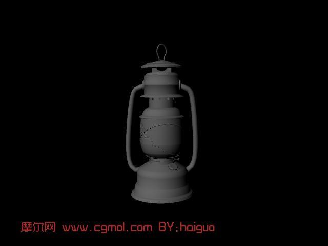 材质/贴图: 无 关键词:油灯