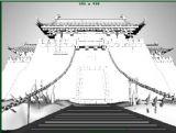 大气的古代城门建筑3D模型