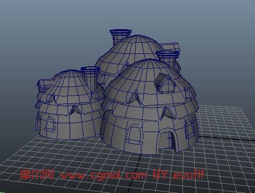 简单的卡通小屋maya模型