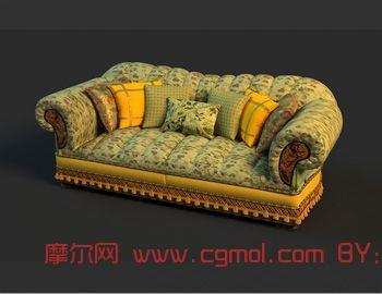 简单沙发3D模型