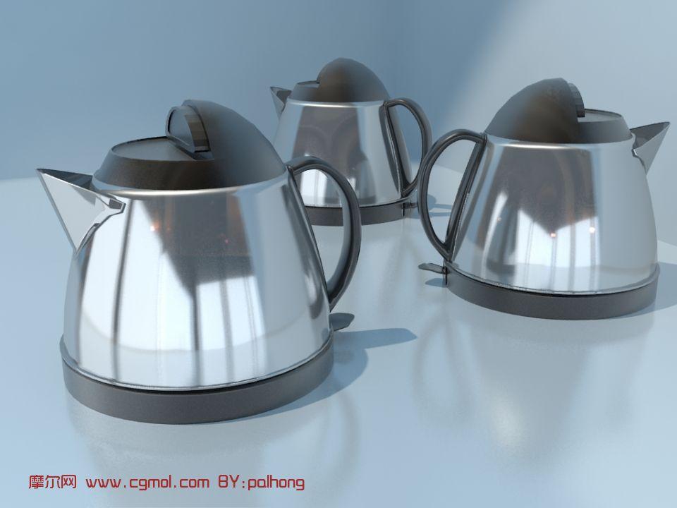 水壶,电热水壶3D模型